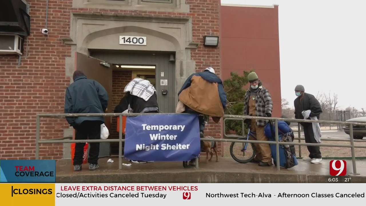 New Overnight OKC Homeless Shelter Filling Up Amid Winter Weather