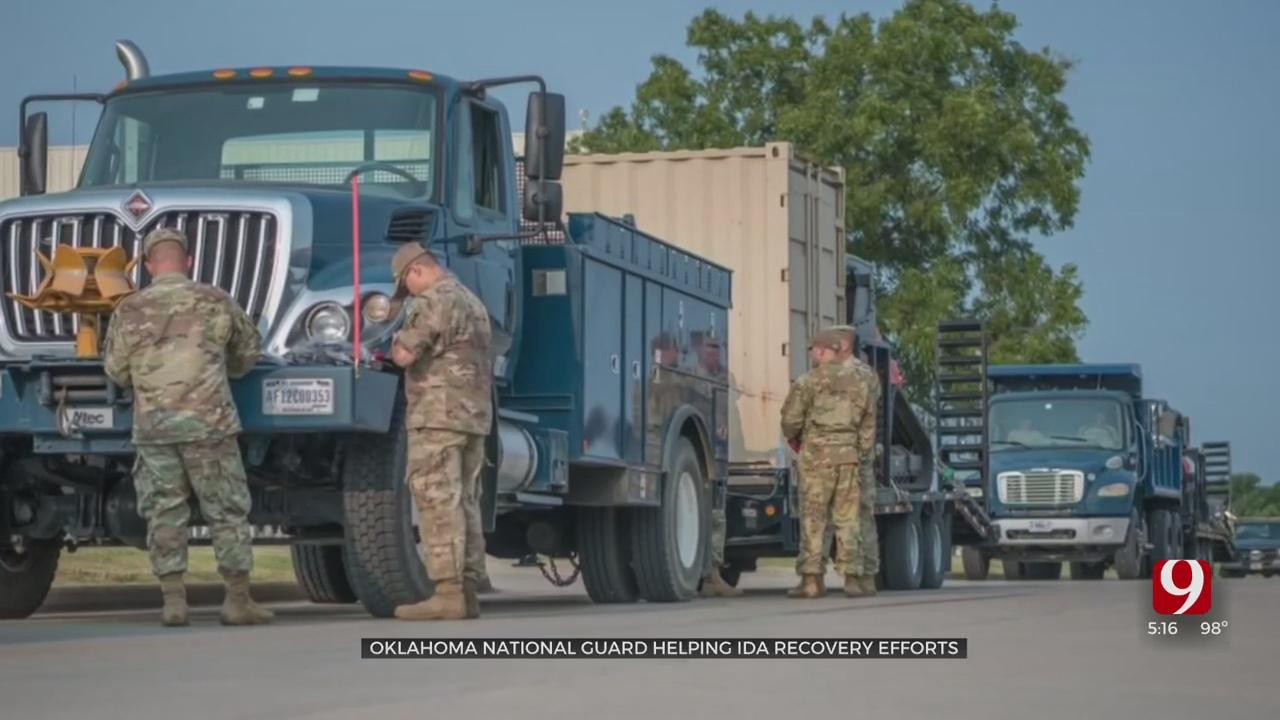 Oklahoma National Guard Helping Ida Recovery Efforts