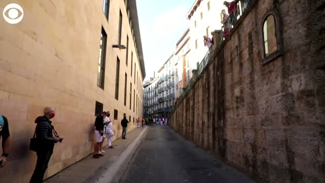WATCH: Streets Empty As Spain Cancels The Running Of The Bulls