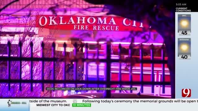 OKCFD Responds To Fire Inside Oklahoma County Detention Center