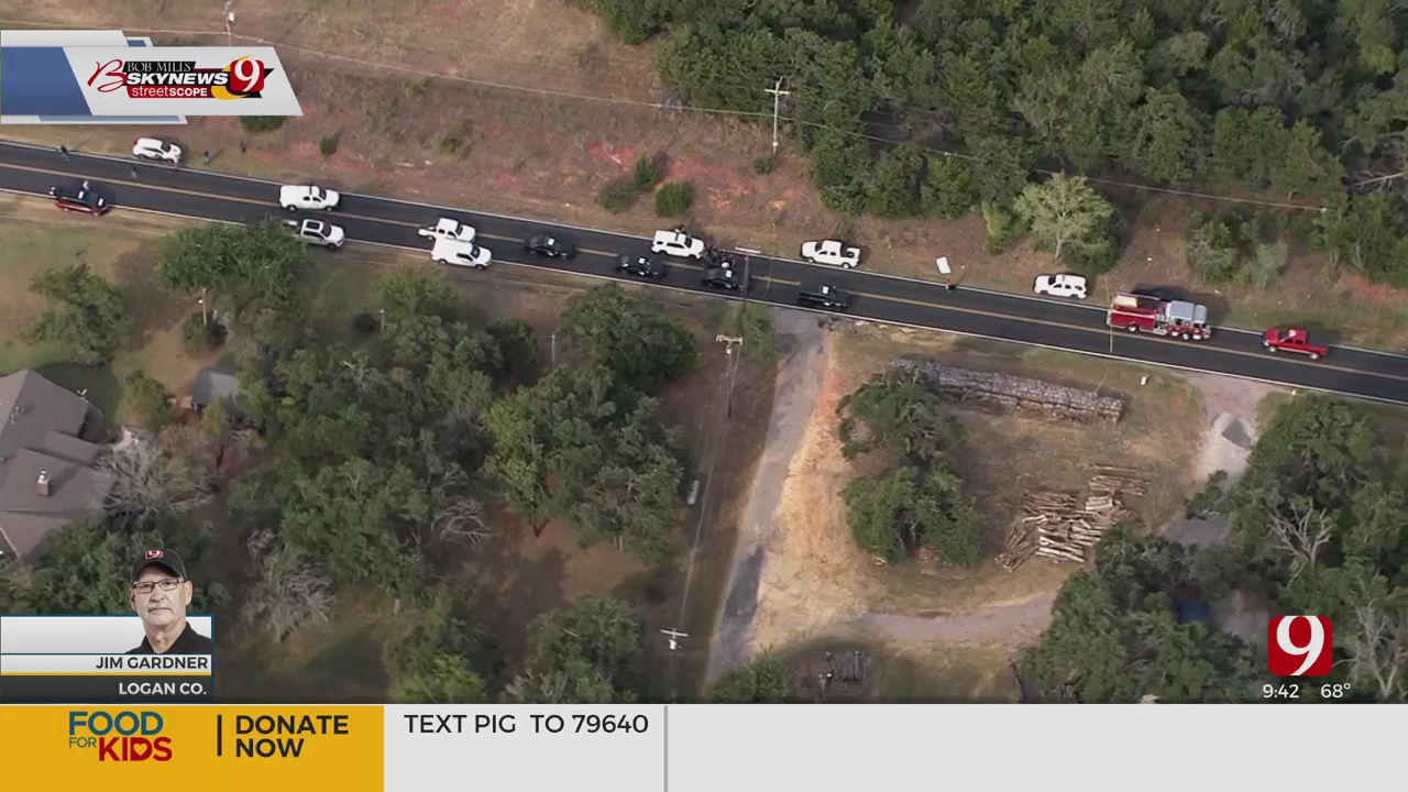 SkyNews 9 Flies Over A Body Investigation In Logan County