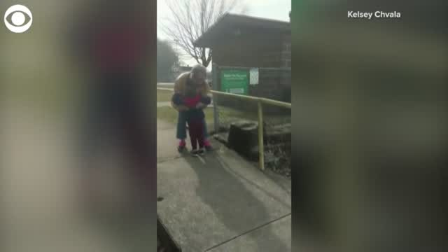 WATCH: Boy Hugs Grandmother After She Gets Vaccinated