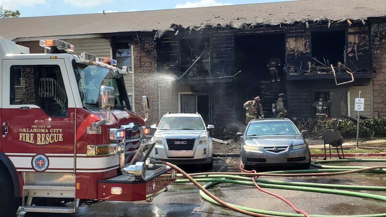 OKCFD: 4 Apartments Destroyed In Fire At Complex In NW OKC