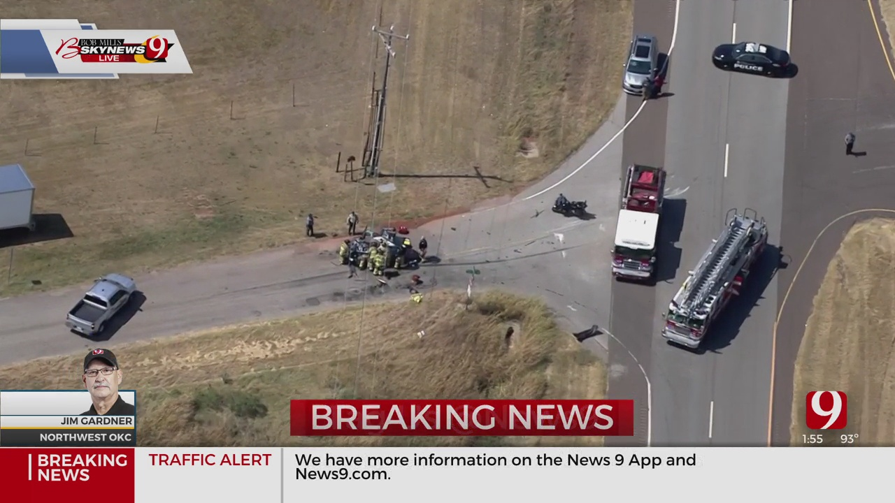 Major Accident Involving Truck And Car In NW OKC