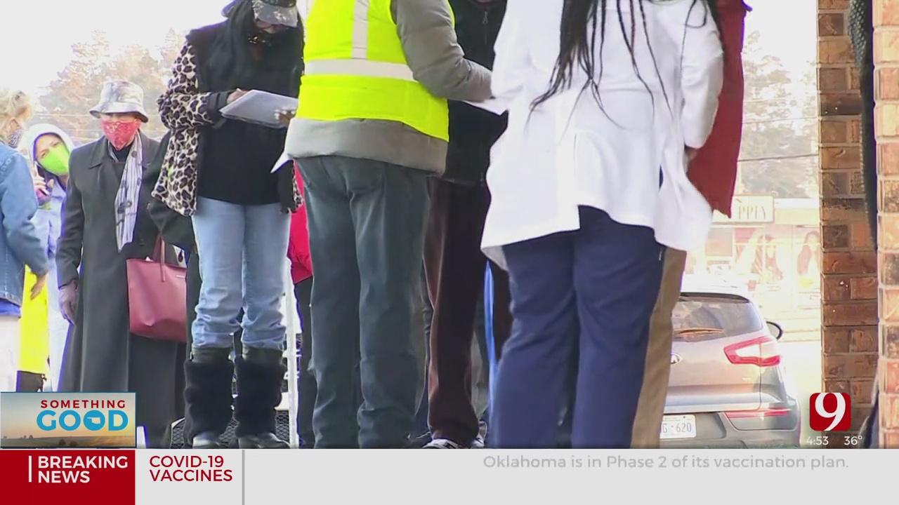 Hundreds Gather For COVID-19 Vaccine At NE OKC Church
