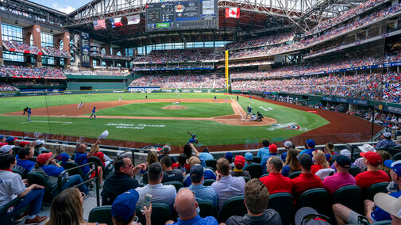 Texas Rangers Open Ballpark To Full-Capacity Crowd For Home Opener Vs. Blue Jays