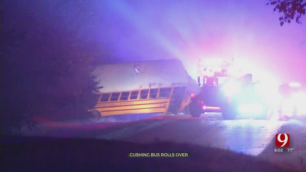 Cushing Public Schools Superintendent 'Thankful' Bus Wreck Involving 20 Students Wasn't Worse