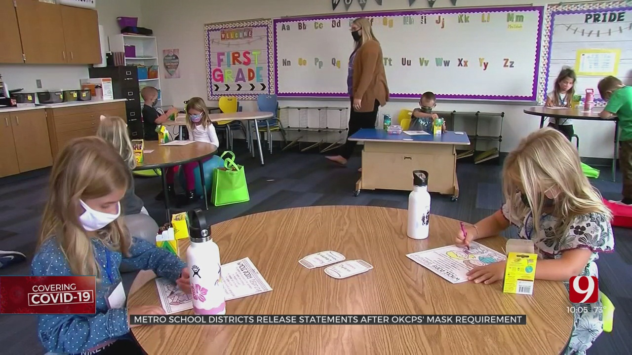 Metro School Districts React To OKCPS Mask Requirement