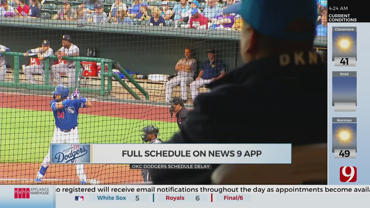 OKC Dodgers Schedule Delayed Until May