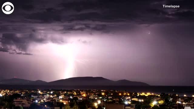 WATCH: Lightning Strikes In Greece