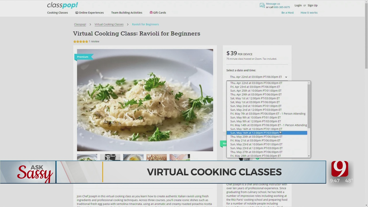 Ask Sassy: Virtual Cooking Classes