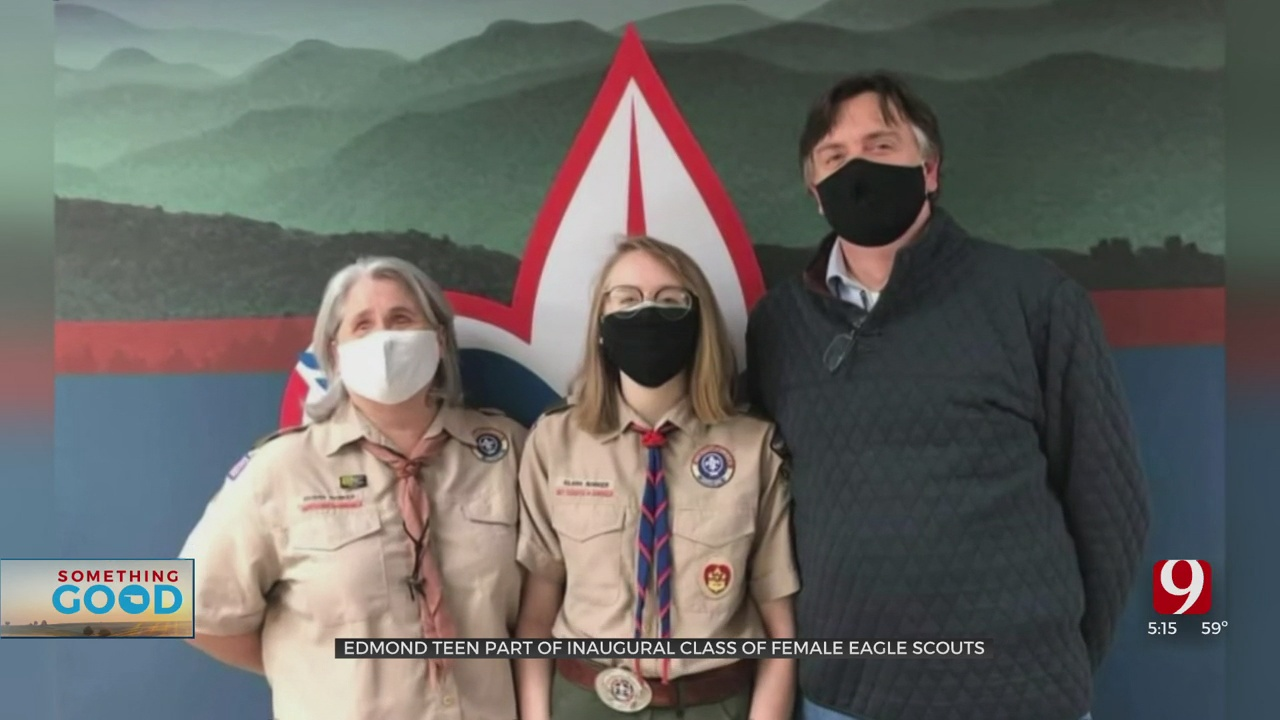 Something Good: Edmond Memorial Senior Part Of First Female Eagle Scout Class