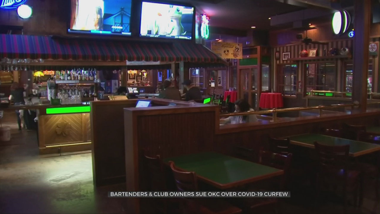 Bartenders, Club Owners Sue OKC Over COVID-19 Curfew
