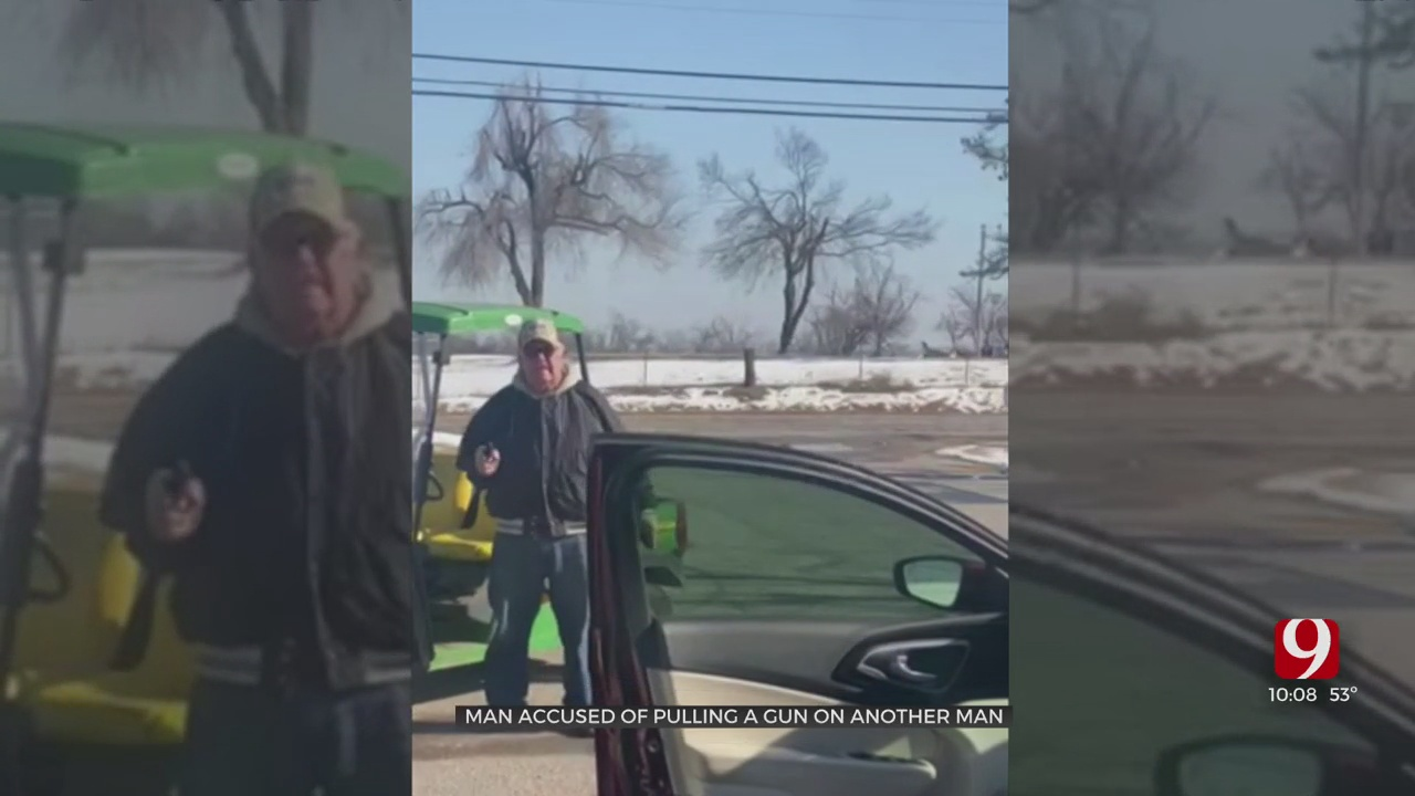 Police Looking For Man After Armed Confrontation In Mustang Caught On Camera