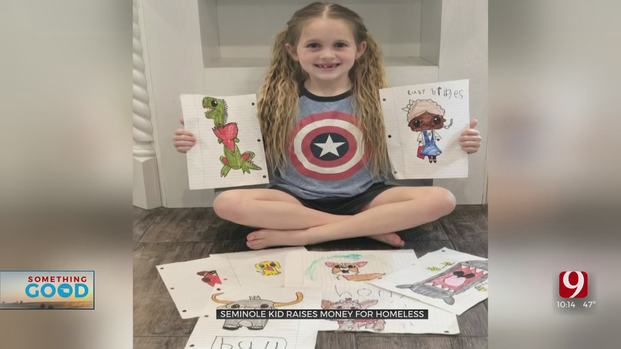 7-Year-Old Oklahoma Girl Helps Homeless Community With Her Art