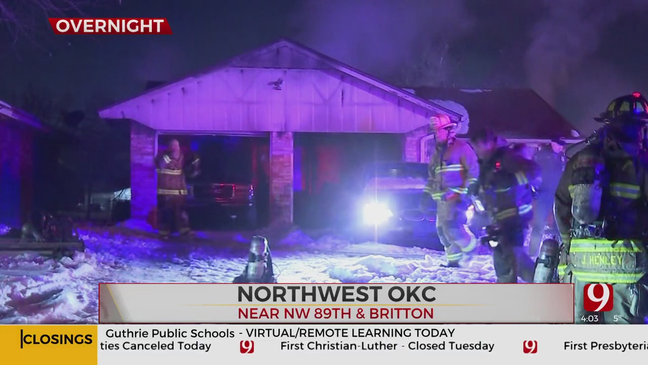 NW OKC Home Destroyed In Fire Caused By Space Heater