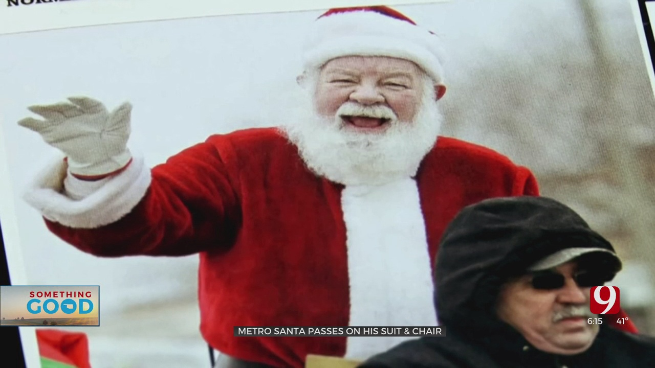 Metro Santa Passes On His Suit And Chair