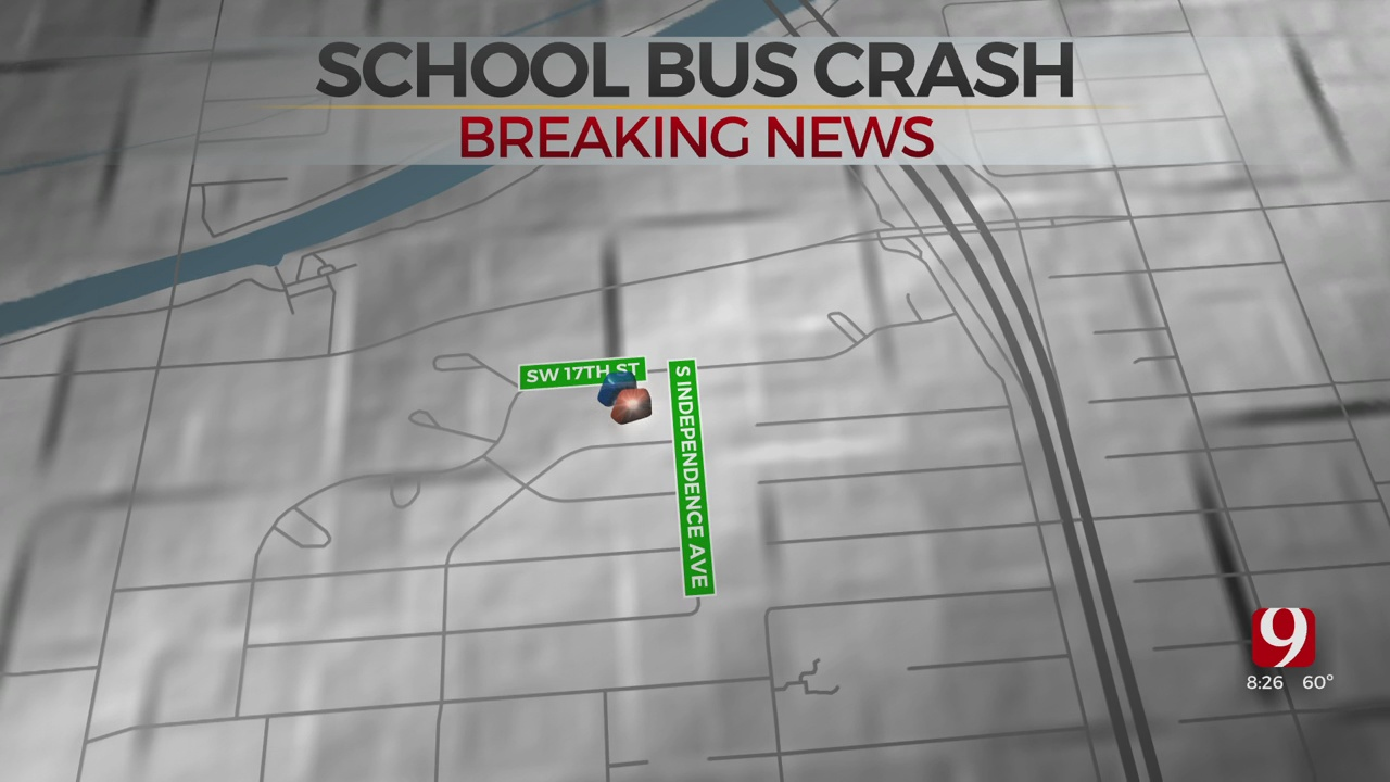 School Bus Involved In Hit-And-Run Accident In SW OKC