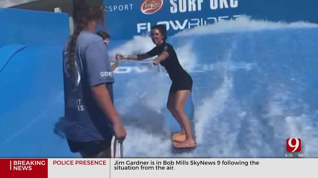 WATCH: Amanda Taylor Beats The Heat At Surf OKC