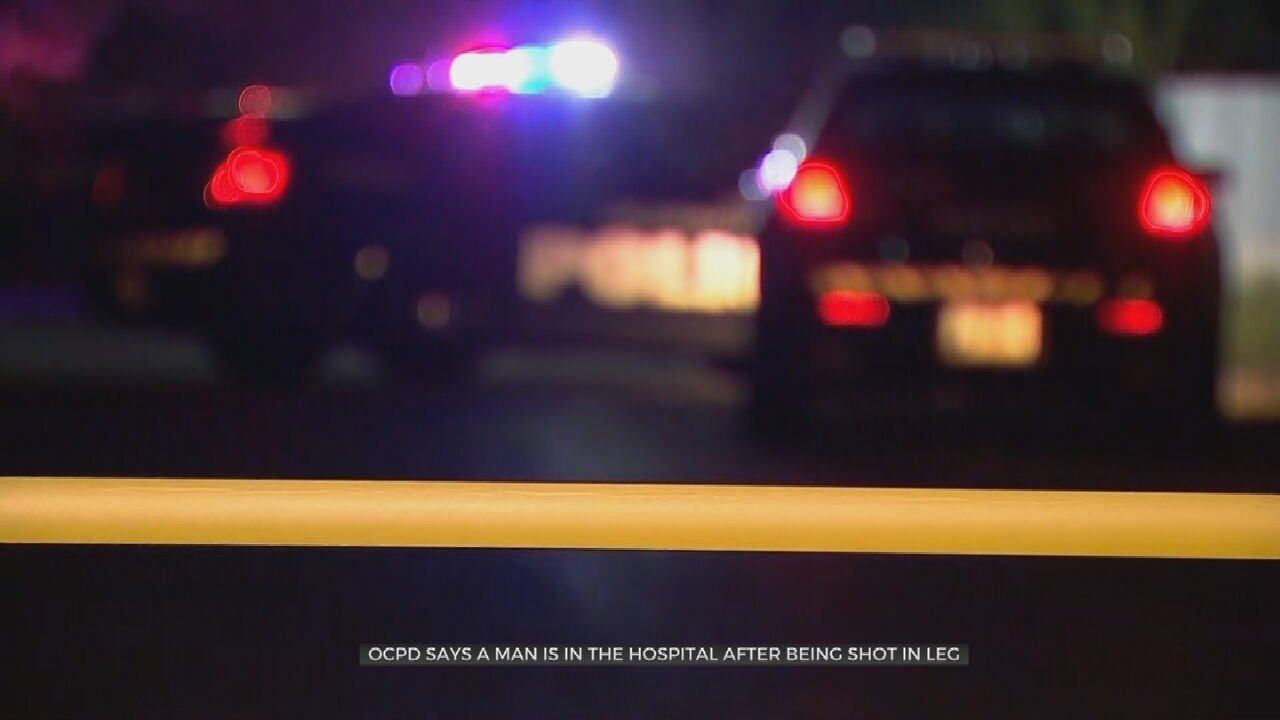 OKCPD: Man Hospitalized After Being In The Leg Overnight