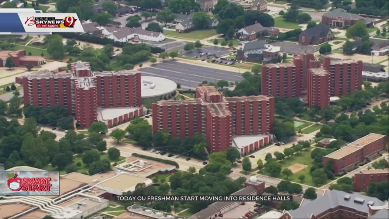 Students Begin Moving Into Residence Halls At OU's Norman Campus