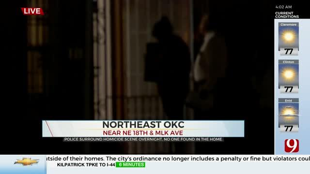 OKC Police, Tactical Team Surround Homicide Scene Overnight