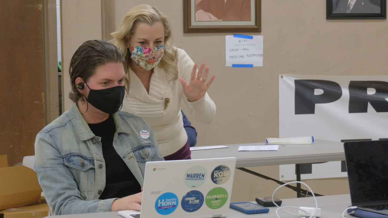 Rep. Kendra Horn Turns Campaign Center Into Warming Station