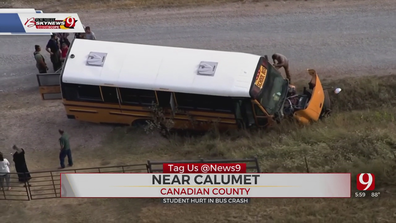 Student Injured In Crash Involving School Bus In Canadian County