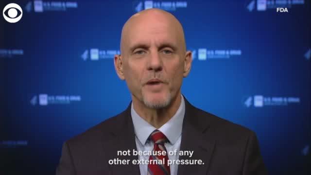 WATCH: FDA Commissioner Urges Americans To Remain Vigilant