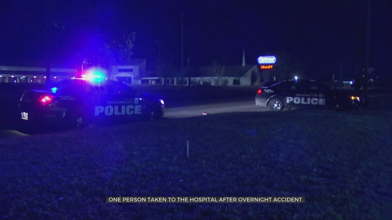 1 Taken To Hospital After NW OKC Overnight Auto-Ped