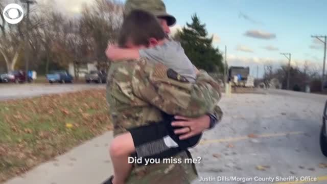 Air Force Dad's Surprise Homecoming For Son
