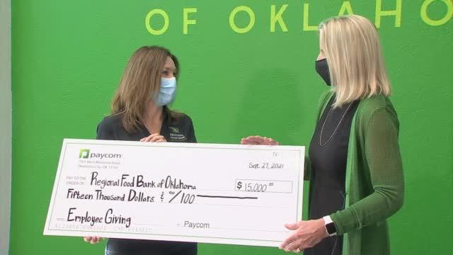 Paycom Donates $30,000 Toward Fighting Hunger