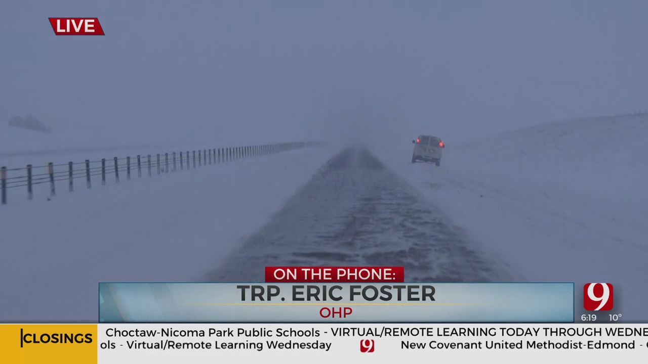 WATCH: OHP Provides Update On Changing Road Conditions As Visibility Decreases