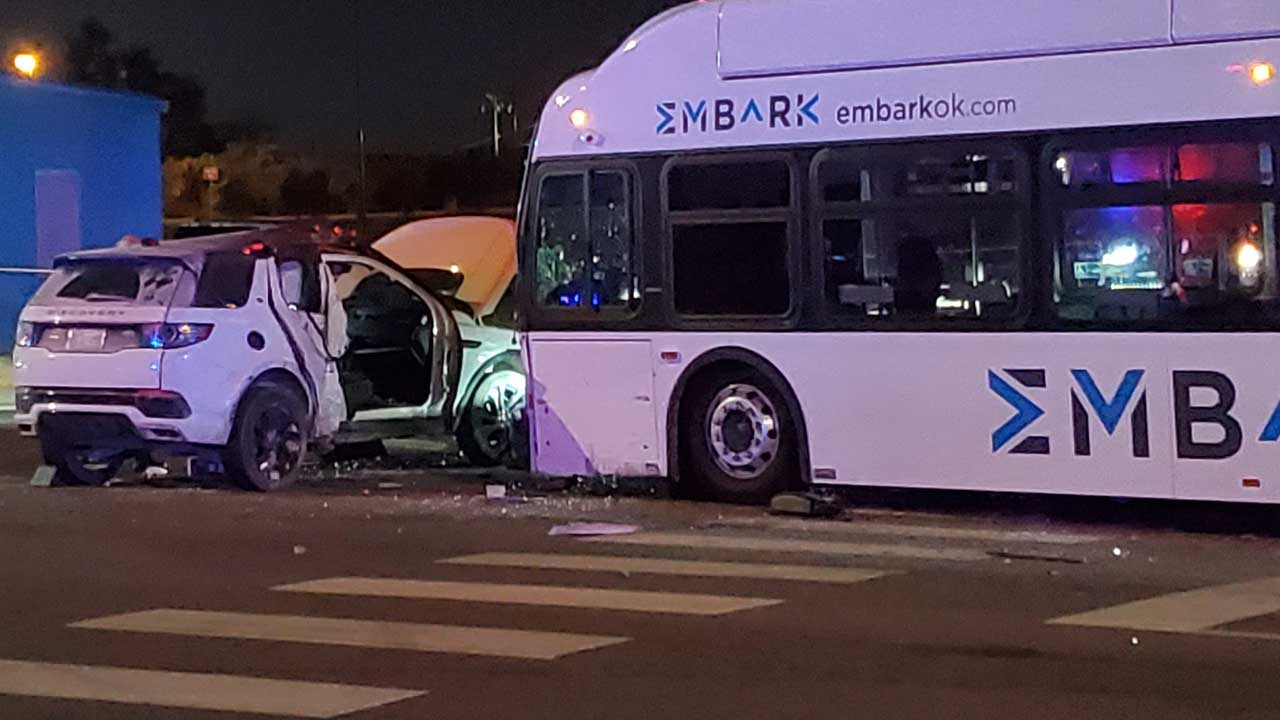 1 Critical, 1 In Serious Condition After Accident Involving City Bus In OKC