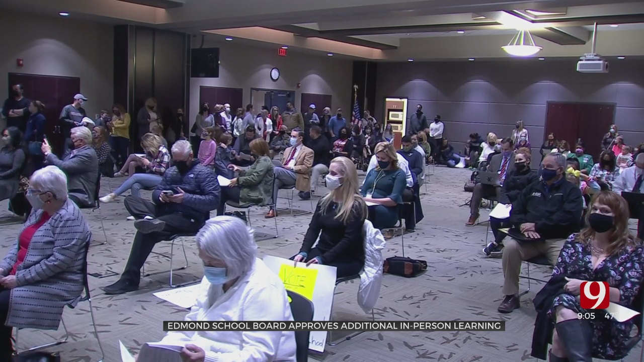 Edmond School Board Approves Additional In-Person Learning