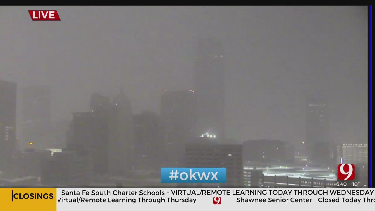 OKC's Downtown Skyline Goes Dark For Energy Conservation