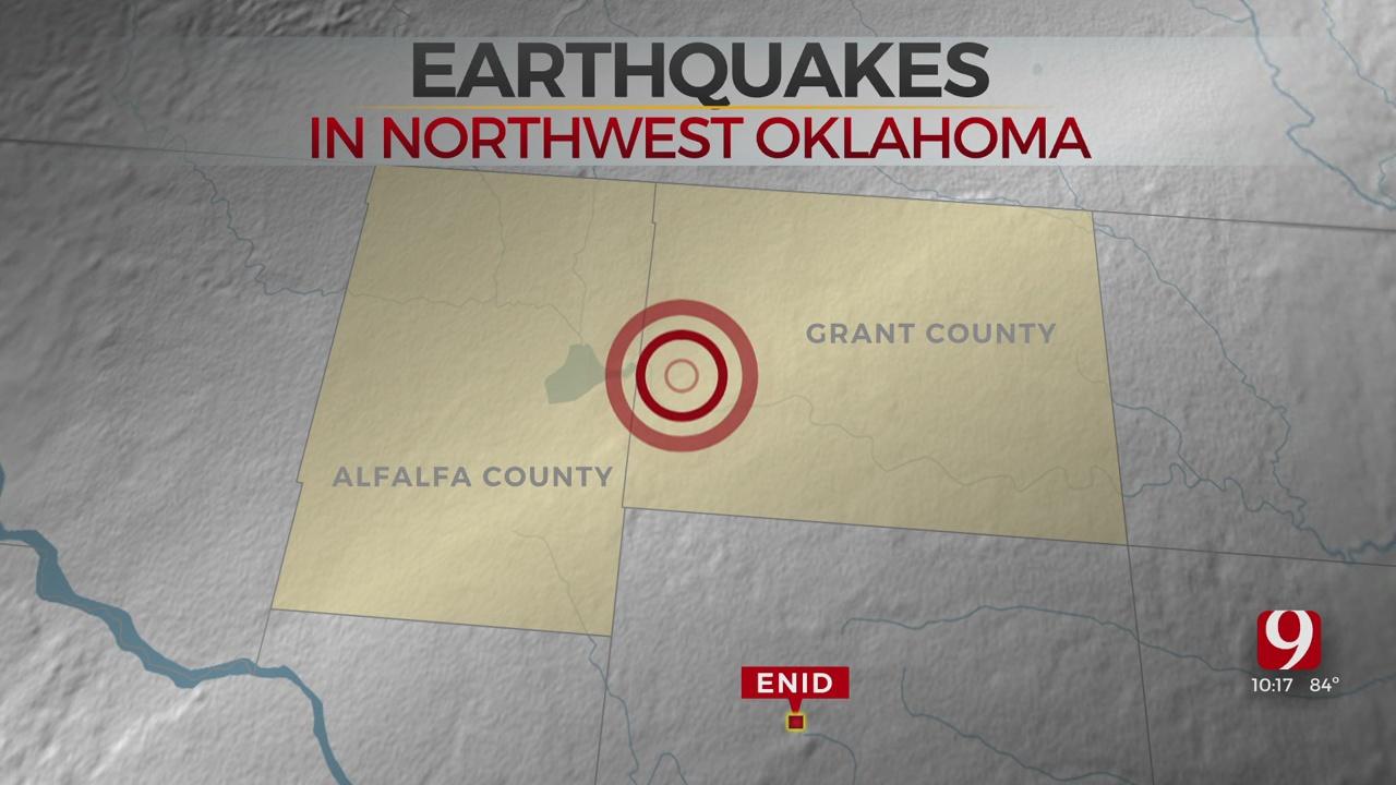 3 Earthquakes Shake NW Oklahoma On Sunday, According To USGS