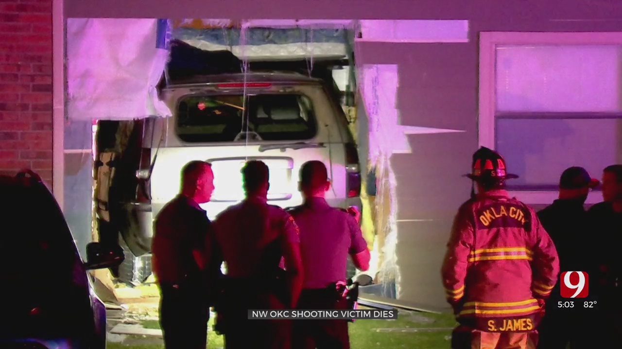 Victim Dies After Shooting, Vehicle Crash Into NW OKC Apartment