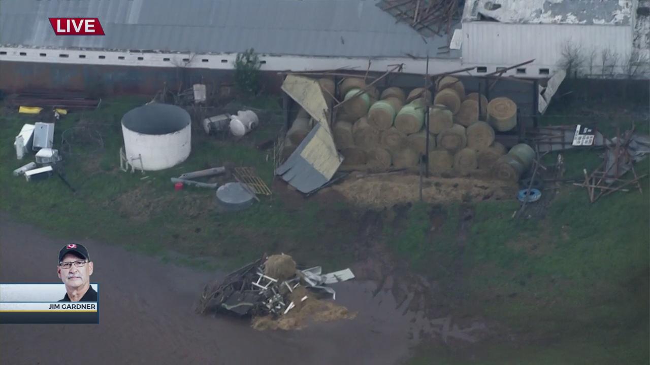 WATCH: Bob Mills SkyNews 9 Flies Over Wind Damage In NE Norman