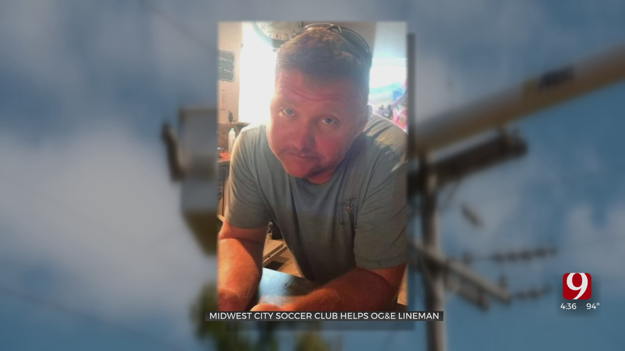 Local Soccer Club Organizes Fundraiser To Help Seriously Injured OG&E Lineman