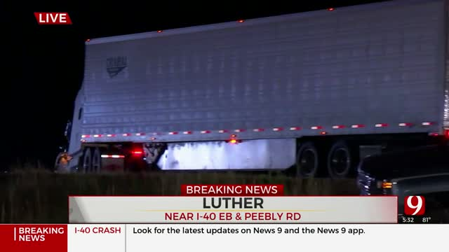 Wreck Closes Eastbound Lanes Near I-40, Peebly Road