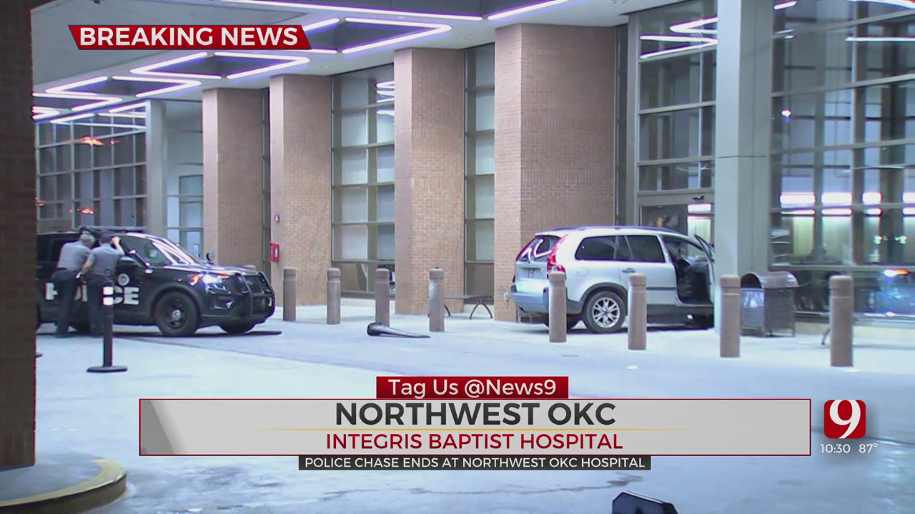 Suspect In Custody After Police Chase Ends At NW OKC Hospital
