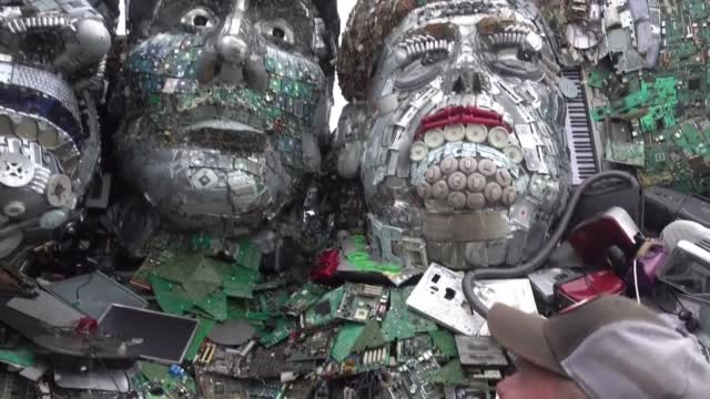 'Mount Recyclemore' Sculpture To Stare Down President Biden, Other G7 Leaders In UK, Demanding They Tackle E-Waste