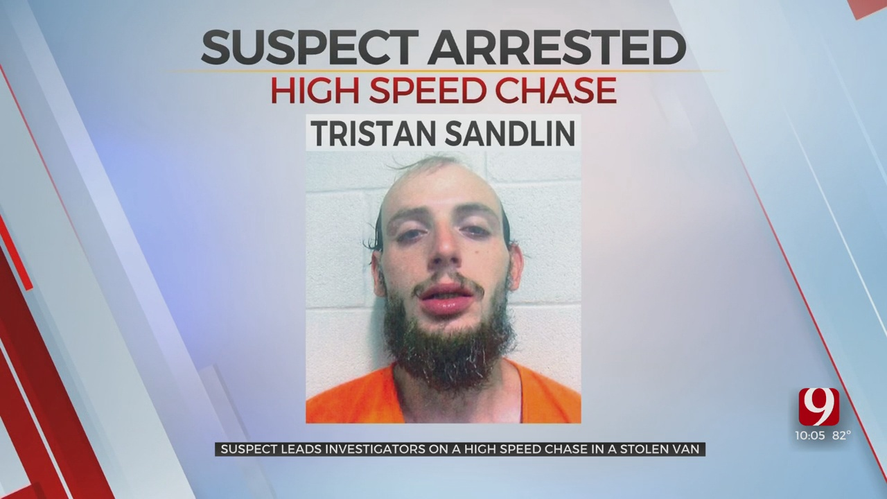 Man Accused Of Stealing Rental Van From Hotel, Leading Deputies On High-Speed Chase Near Kingfisher