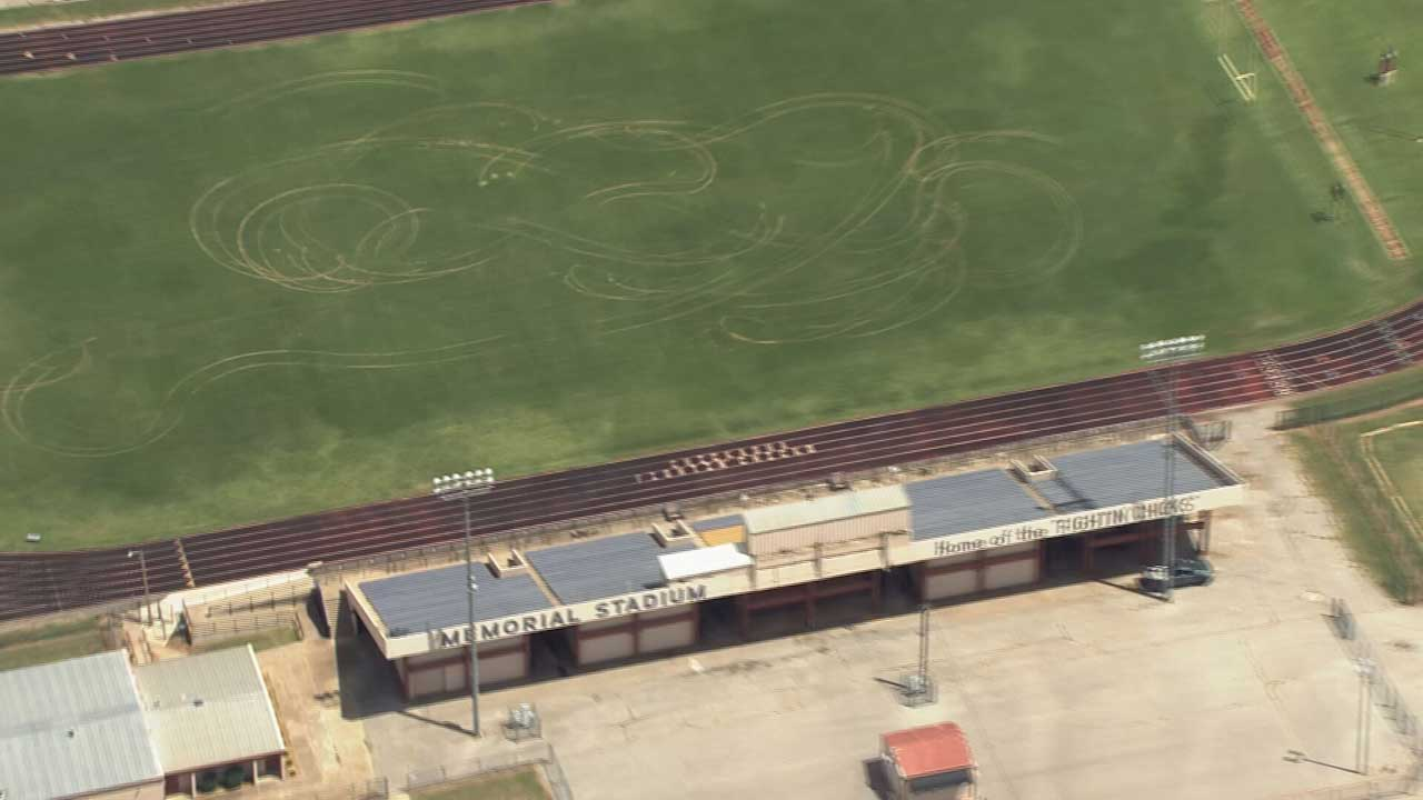 Vehicle Does Donuts On Chickasha HS Football Field, Causes Thousands In Damage