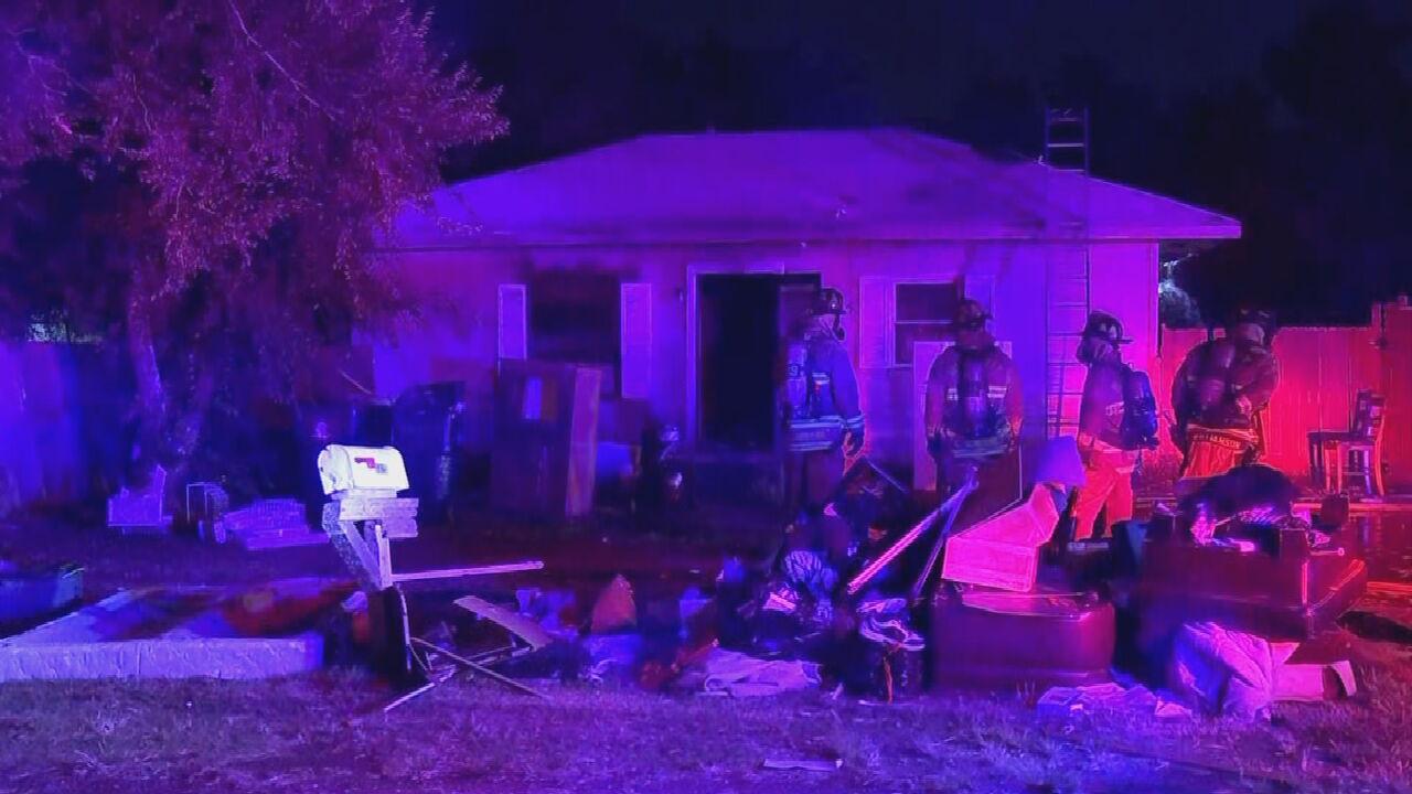 OKC Firefighters Investigate Overnight House Fire