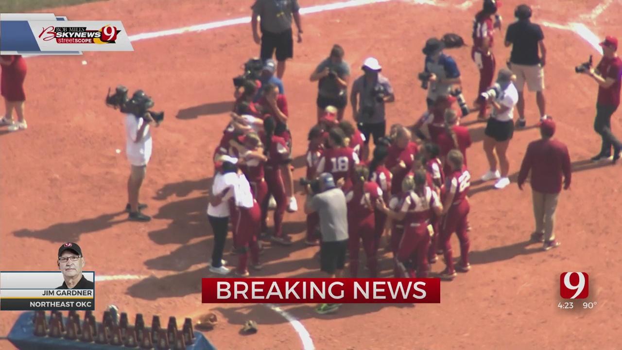 SkyNews 9 Flies Over As OU Wins Softball National Championship
