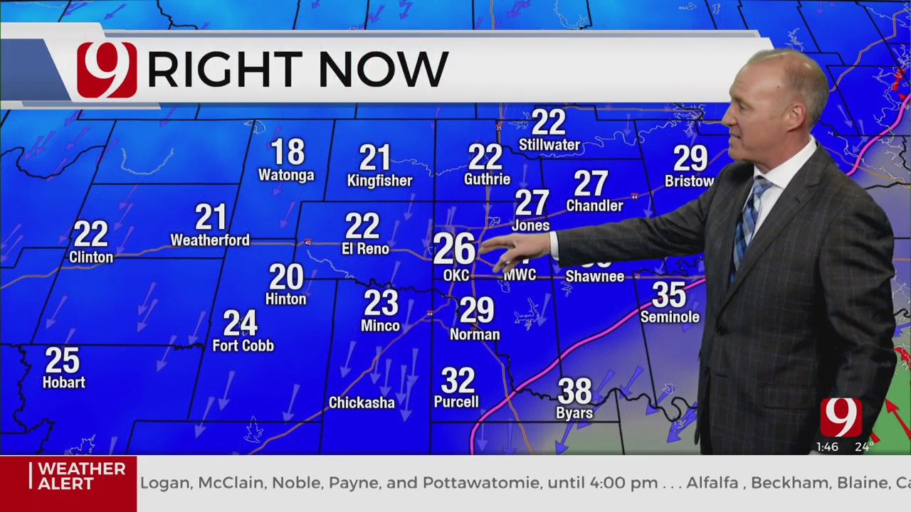 WATCH: Chief Meteorologist David Payne Gives A Winter Weather Update (1:47 p.m.)