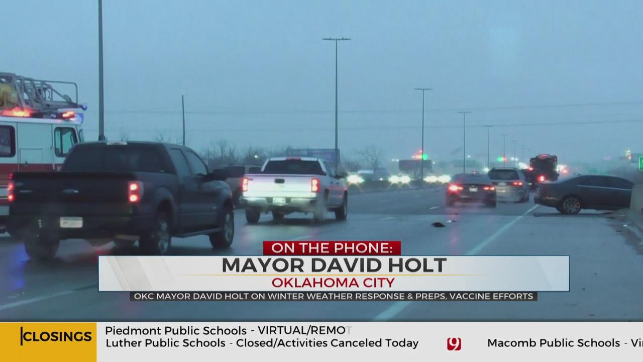 WATCH: OKC Mayor Holt On City Response To Winter Weather