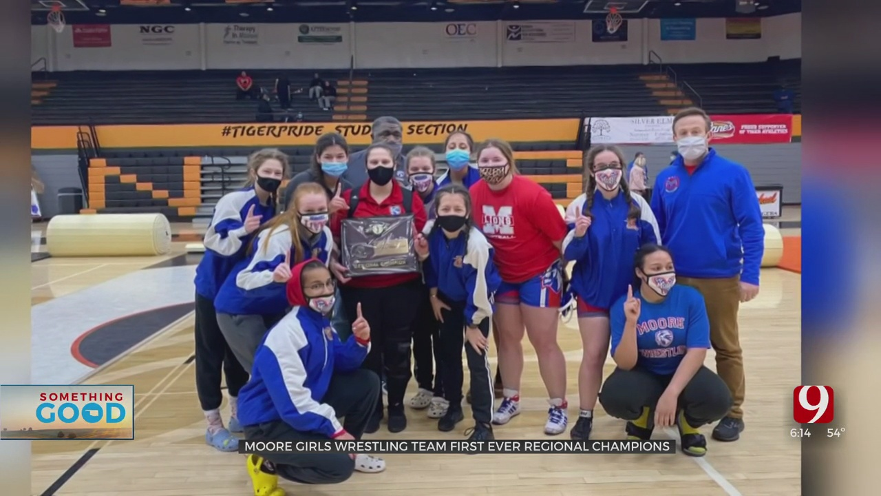 Moore Girls' Wrestling Looking To Pin Down First Oklahoma State Championship
